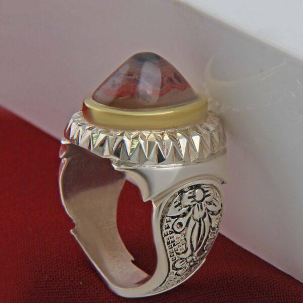 Islamic Men's Silver Ring Model Sulemani Akeek