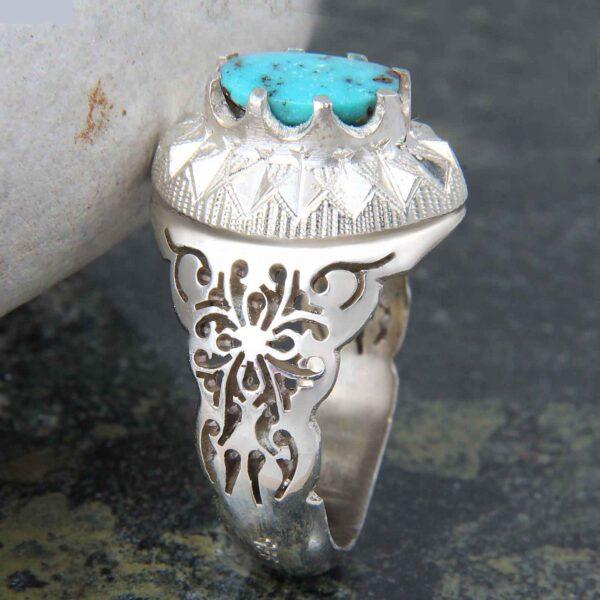 Neyshabouri Firuzeh Men's Silver Ring Model Magic