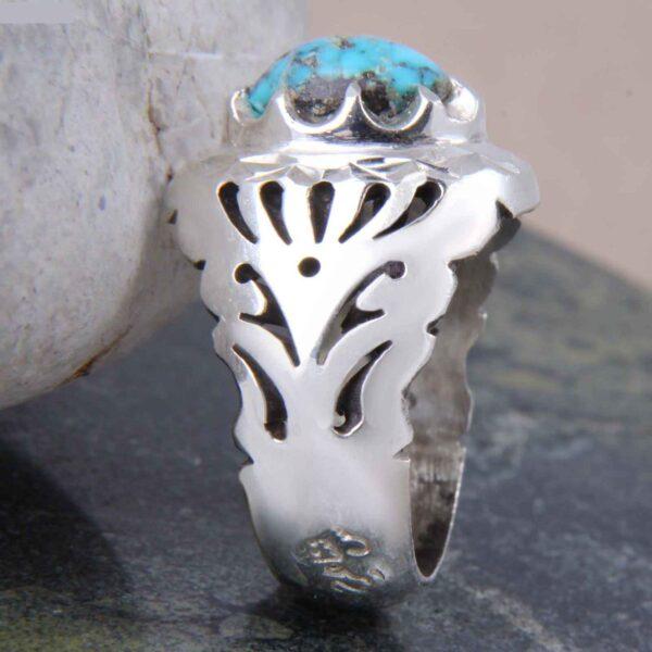 Neyshabouri Firuzeh Men's Silver Ring Model Sahand