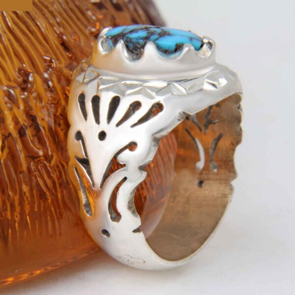 Neyshabouri Firuzeh Men's Silver Ring Model setareh