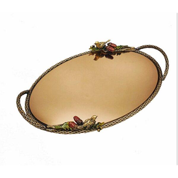 Persian Brass Serving Tea Tray Model Sparrow