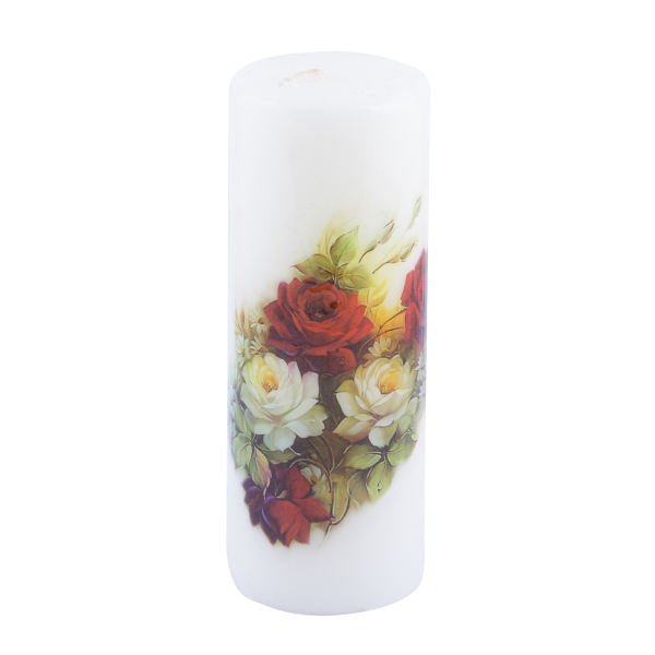 Persian Candle Model White Flowers (X2)