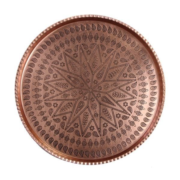Persian Copper Serving Tea Tray Model Ashki