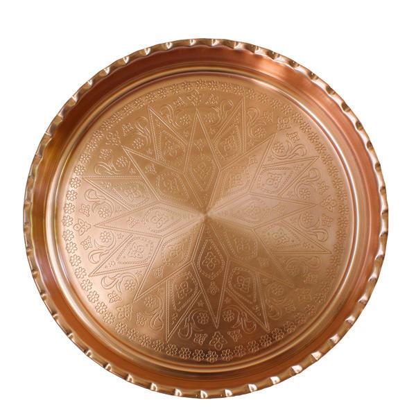 Persian Copper Serving TeaTray Model Golha