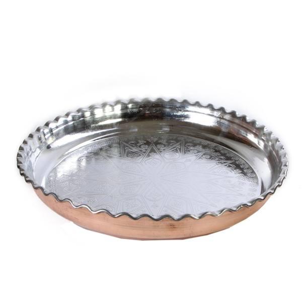 Persian Copper Serving Tray Model Hakaki