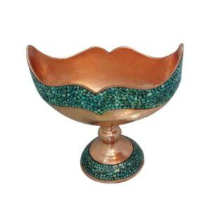 Persian Firuzehkubi Copper Candy Dish Model Mana33
