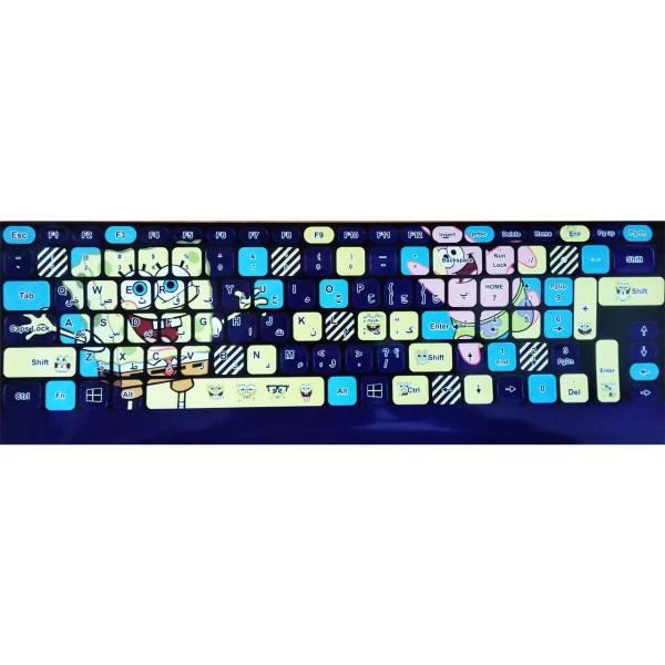 Persian Language Keyboard Stickers Model Sponge Bob