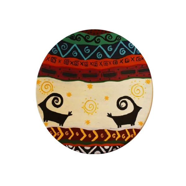Persian Pottery Plate Model Animals
