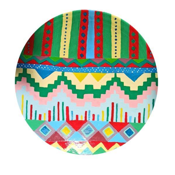 Persian Pottery Plate Model Kilim design