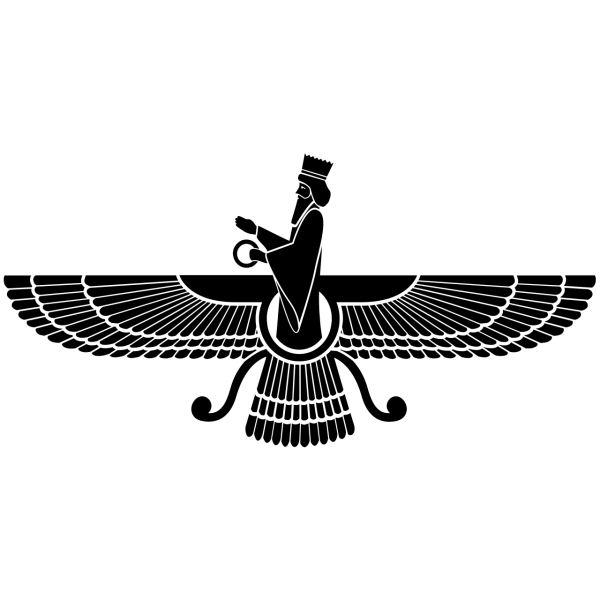 Persian Wooden Tableau Model Farvahar