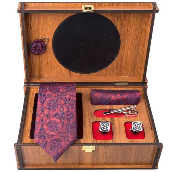 Set of Tie & Handkerchiefs & Cufflinks Model Banafsheh
