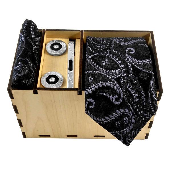 Set of Tie & Handkerchiefs & Cufflinks Model Bita