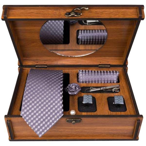 Set of Tie & Handkerchiefs & Cufflinks Model Choobi