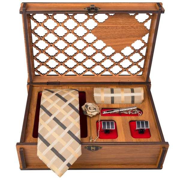 Set of Tie & Handkerchiefs & Cufflinks Model Creami