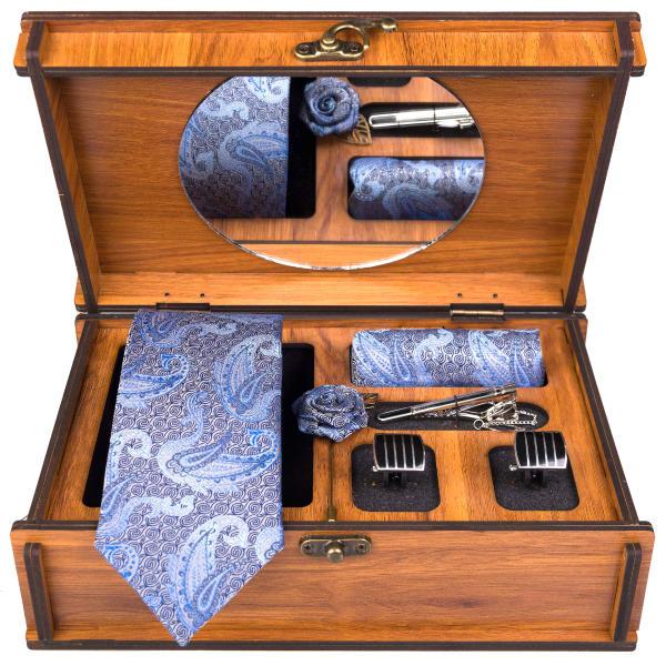 Set of Tie & Handkerchiefs & Cufflinks Model Darya