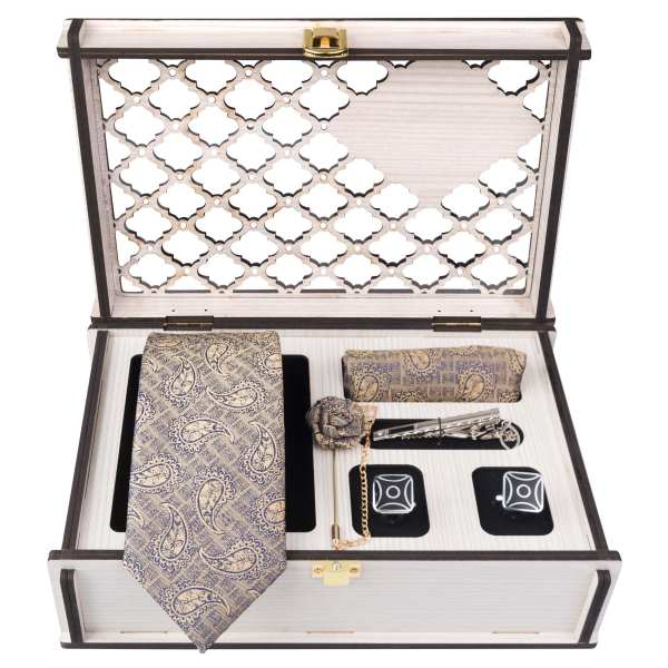 Set of Tie & Handkerchiefs & Cufflinks Model Dayan