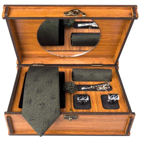 Set of Tie & Handkerchiefs & Cufflinks Model Franco