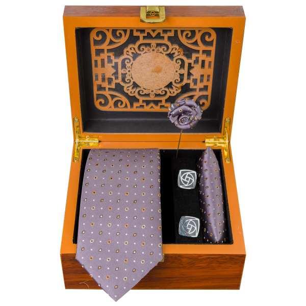 Set of Tie & Handkerchiefs & Cufflinks Model Hamta