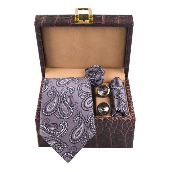 Set of Tie & Handkerchiefs & Cufflinks Model Hooman