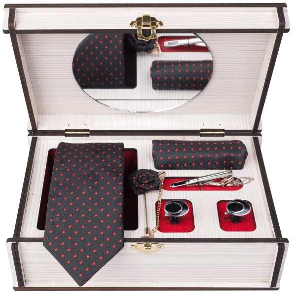 Set of Tie & Handkerchiefs & Cufflinks Model Irvan