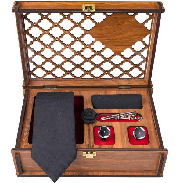 Set of Tie Handkerchiefs & Cufflinks Model Kabir