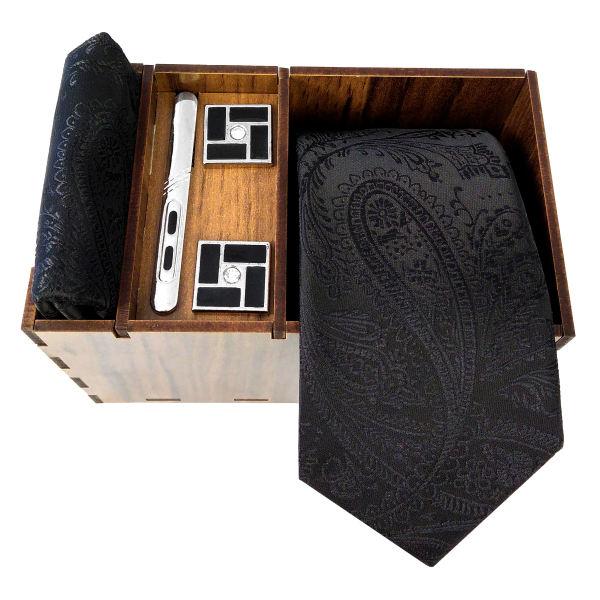 Set of Tie & Handkerchiefs & Cufflinks Model Khademi