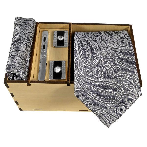 Set of Tie & Handkerchiefs & Cufflinks Model Khakestari