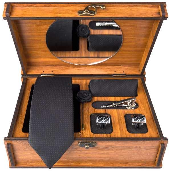 Set of Tie & Handkerchiefs & Cufflinks Model Latif