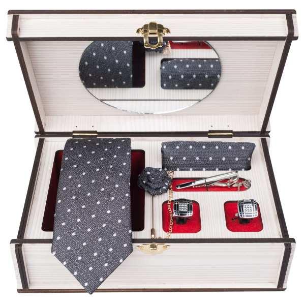 Set of Tie & Handkerchiefs & Cufflinks Model Sarvi