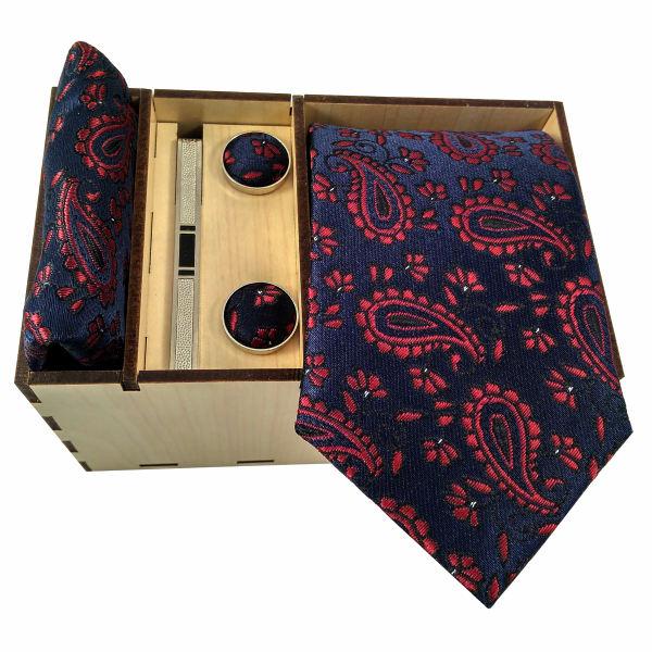 Set of Tie & Handkerchiefs & Cufflinks Model Special