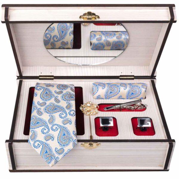 Set of Tie, Handkerchiefs & Cufflinks Model Termeh