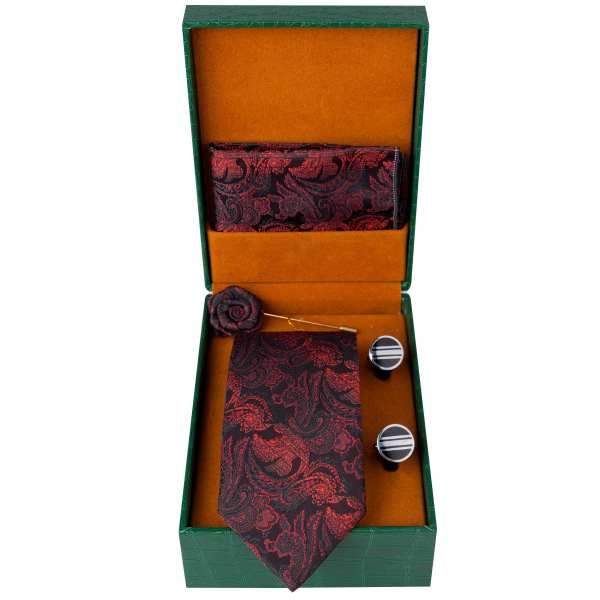 Set of Tie & Handkerchiefs & Cufflinks Model Vira