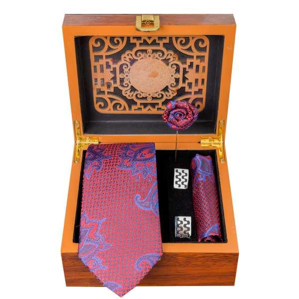 Set of Tie & Handkerchiefs & Cufflinks Model Zereshki